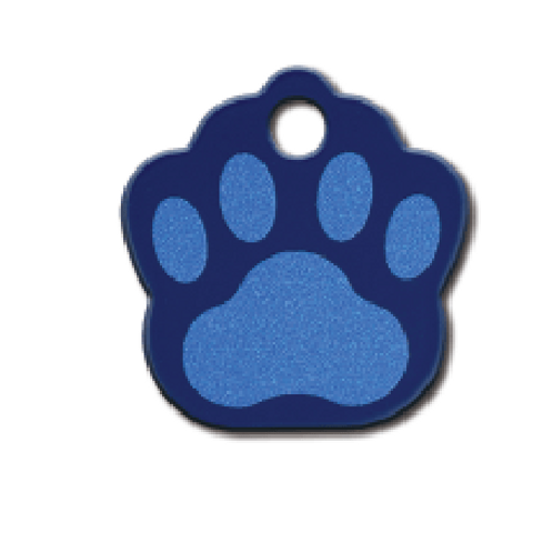 Paw Sml Painted Blue 8442-777
