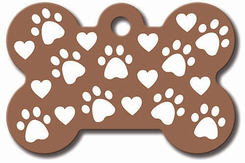 Bone Lg Copper Paws & Hearts 7324-68-1260