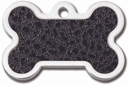 Bone Lg  Black Leather Insert 7734-51