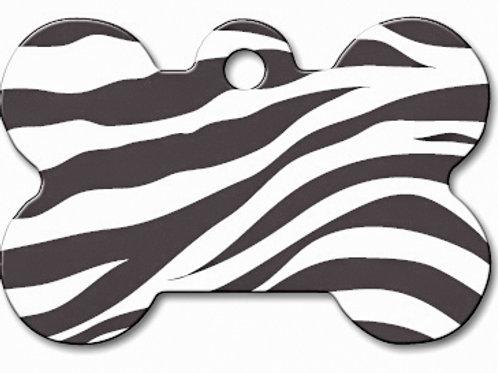 Bone Lg Zebra Print 7324-862 Special Order
