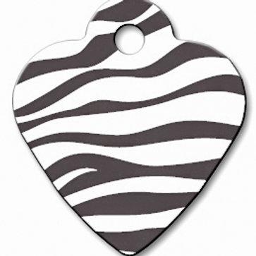 Heart Sml Zebra Print 7323-863