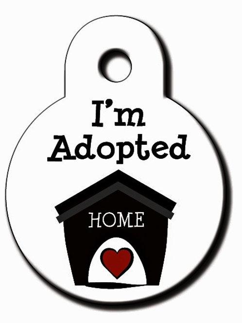 Circle SmlWhite I'm Adopted 7326-49-1109