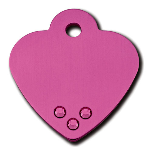Heart Sml Pink With Pink Stones 7323-12-761