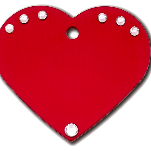 Heart Lg R Red with Clear Stones 7322-04-764