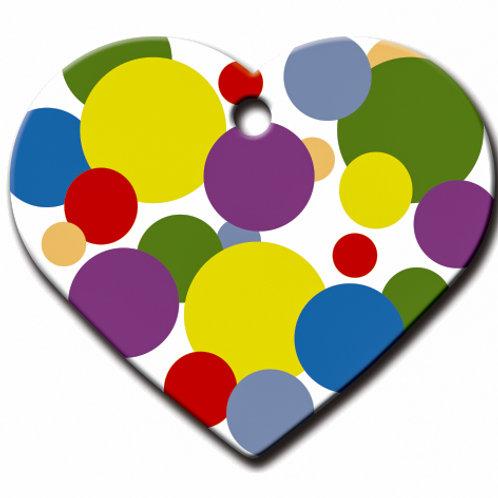 Heart Lg Polka Dots 7322-1285