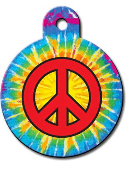 Circle Lg Tie Dye Peace 7325-842
