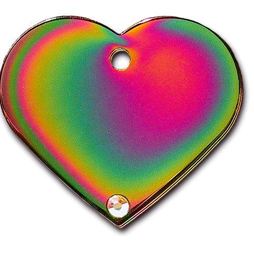 Heart Lg Rainbow with Aurora Stone 7322-18-347