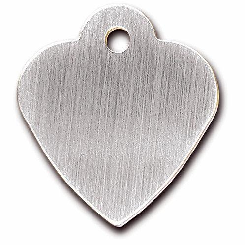 Heart Sml Brushed Chrome 7323-20