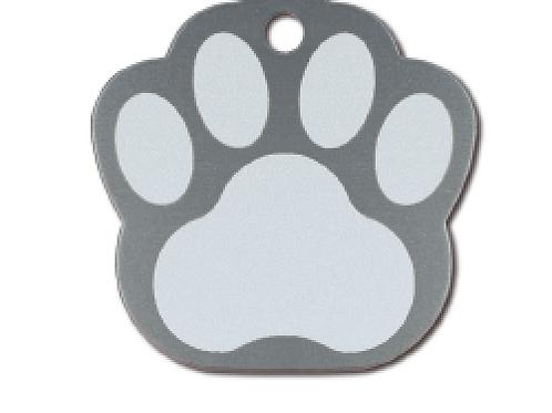 Paw Lg. Grey Etched 8440-64