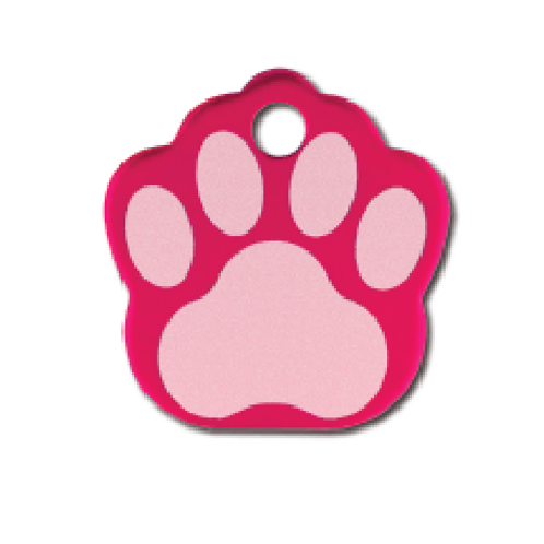 Paw Sml. Raspberry Etched 8442-25