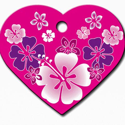 Heart Lg Hawaiian Pink 7322-968