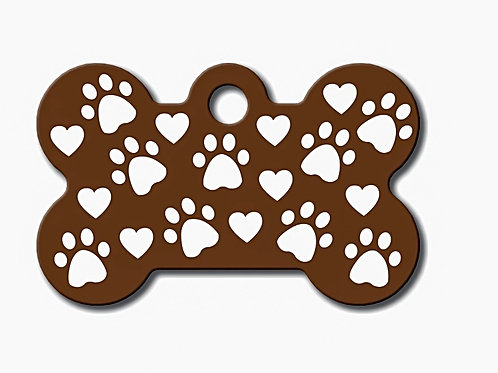 Bone Sml Copper/Paws/Hearts 7700-68-1260