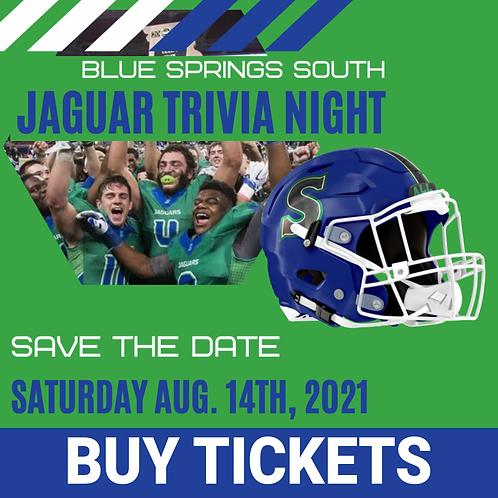 2021 Jaguar Trivia Night Table for 10