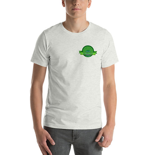 Emerald Stripe Lawn Care Unisex T-Shirt