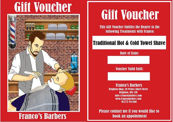 'Traditional Shave' Gift Voucher