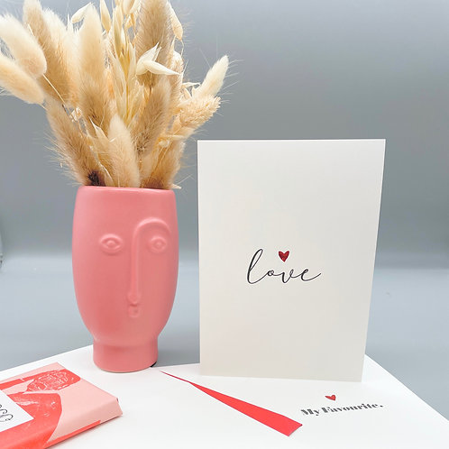 """Mini Face Vase with """"so natural"""" posy"""