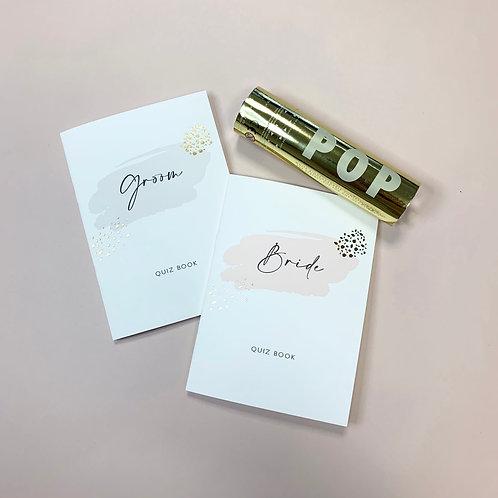 Love isn't cancelled - Bride & Goom Quiz Books