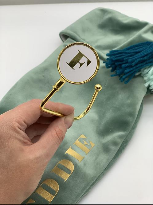 Monogram Stocking Hanger - Gold