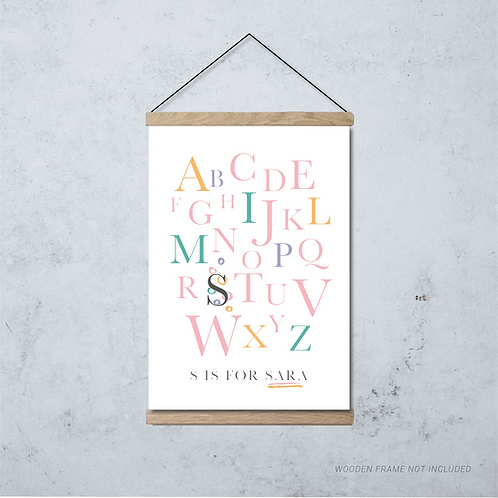 Pink Alphabet Print
