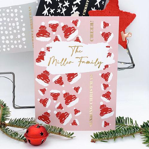 Jolly Santa Hats - Personalised Christmas Card