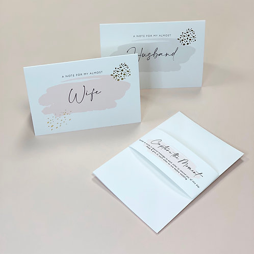 Capture the moment - Husband & Wife Cards