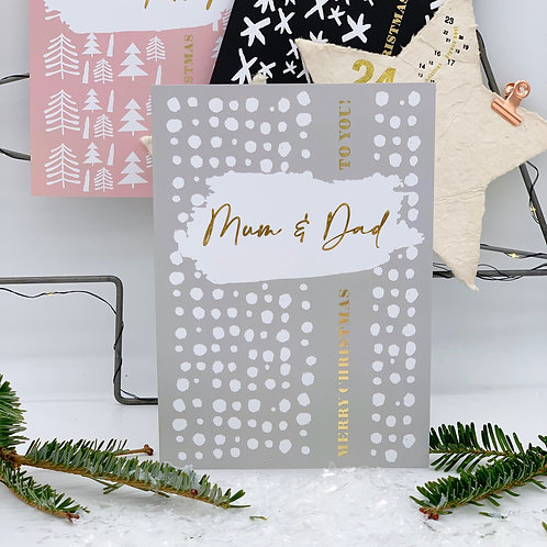 Falling Snow - Personalised Christmas Card