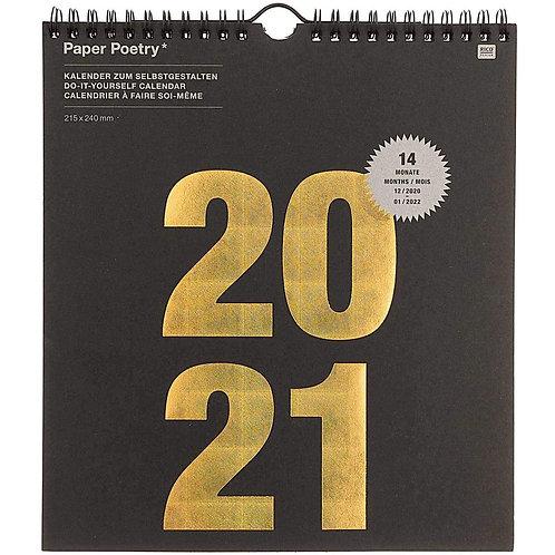 Paper Poetry 2021 Calendar - Black