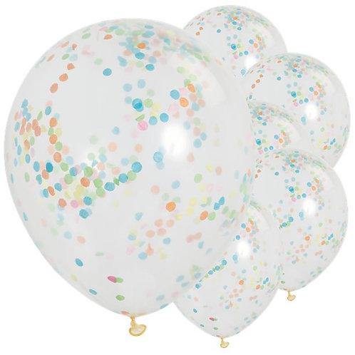 Multi Coloured Confetti Balloons