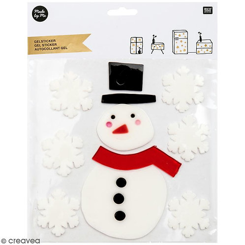 Snowman and snowflakes Gel Stickers