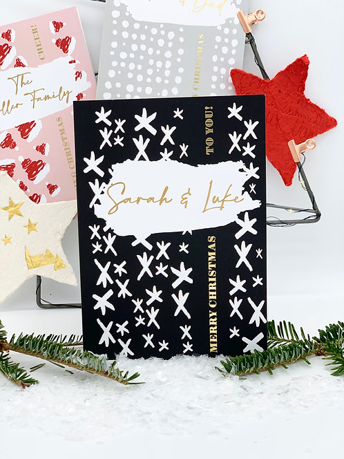 Starry Sky - Personalised Christmas Card