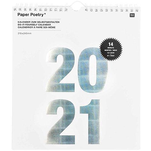 Paper Poetry 2021 Calendar - White