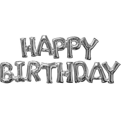 Happy birthday balloon- Silver