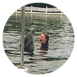 Margot White Swimming with Dolphins