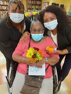 CHHC resident with Oct 17 flowers .JPG