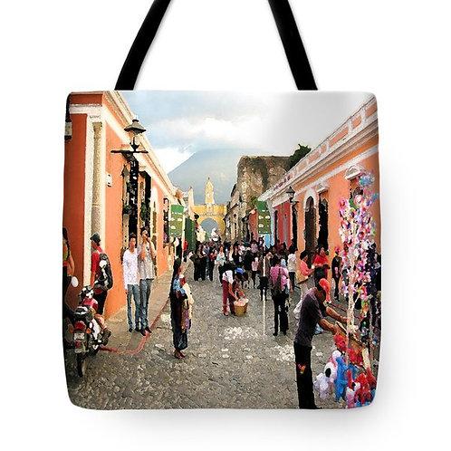 Impressionistic Antigua Guatemala tote bag by Suzy 2.0