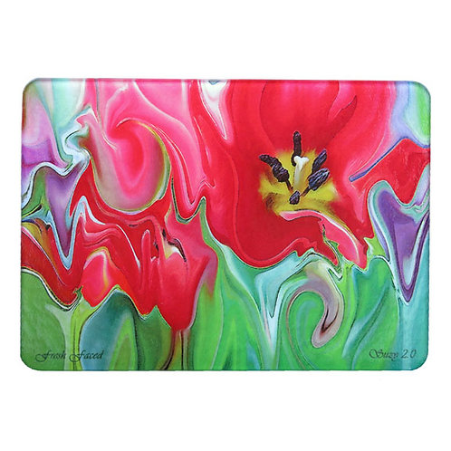 Bright Pink Abstract Tulip Cutting Board by Suzy 2.0