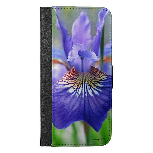 When Iris Eyes Are Smiling Wallet Phone Case