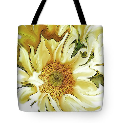 Abstract yellow sunflower tote by Suzy 2.0