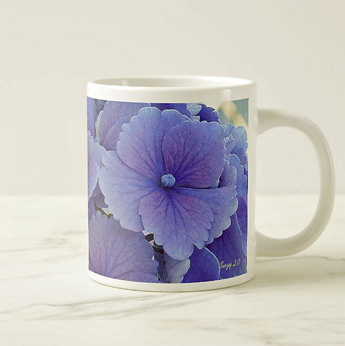 Suzy 2.0 Purple Passion Blue Hydrangea Mug Right