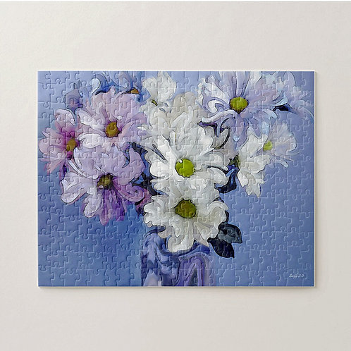 Abstract multi-colored daisy bouquet puzzle by Suzy 2.0