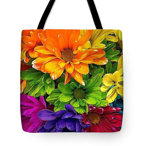 multi-colored daisy tote by Suzy 2.0