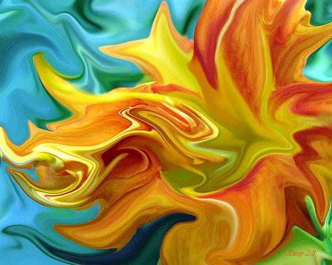 Abstract orange daylily fine art print by Suzy 2.0