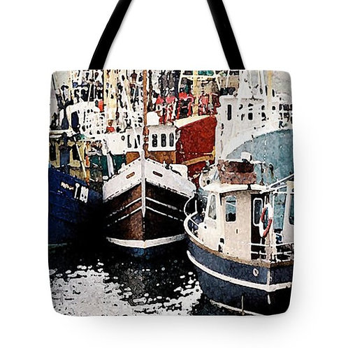 Impressionistic Irish fishing boat tote bag by Suzy 2.0