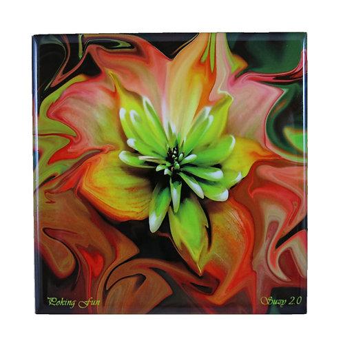 Poking Fun Floral Tile