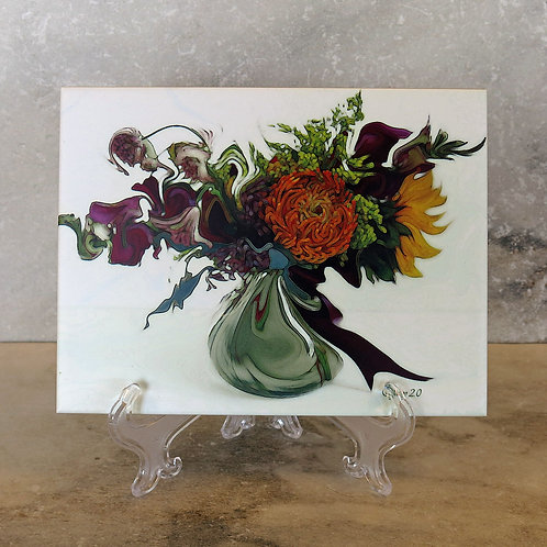 Dancing In The Wind Floral Tile