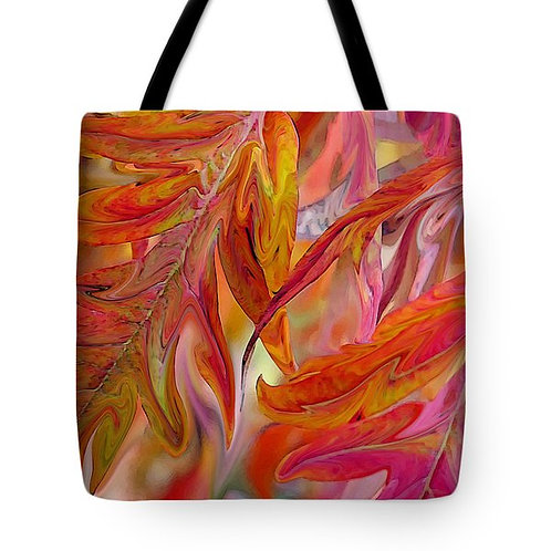 multi-colored abstract fall foliage tote by Suzy 2.0