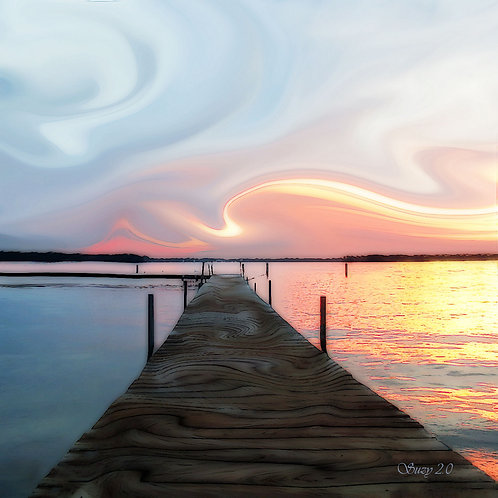 Abstract sunset giclee print by Suzy 2.0