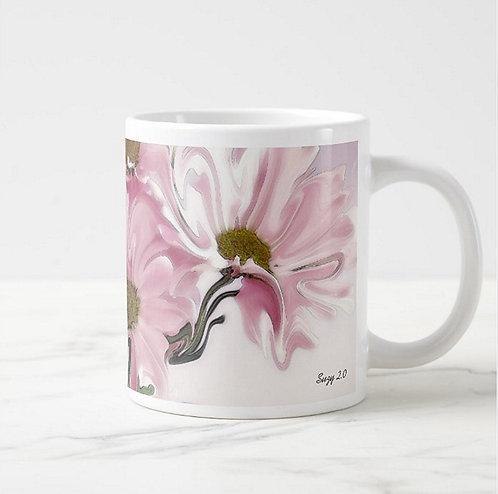 Suzy 2.0 Prom Dance Abstract Pink Daisy Mug Right