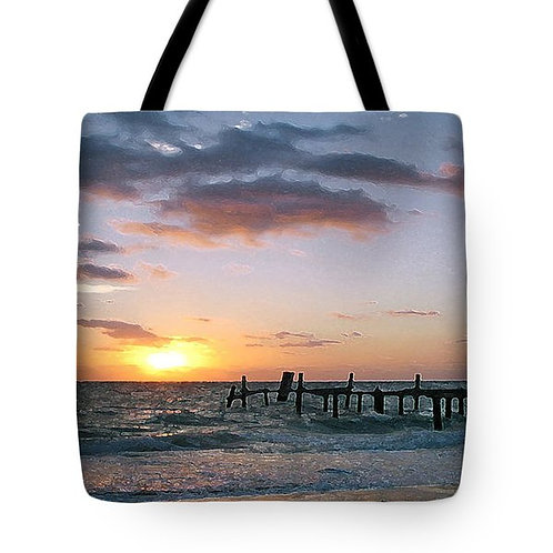 Impressionistic Mexican sunrise tote bag by Suzy 2.0