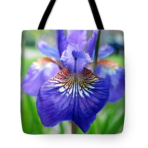 purple Siberian Iris tote bag by Suzy 2.0